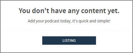 Podcaster Signup button